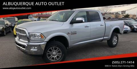 2016 RAM Ram Pickup 2500 for sale at ALBUQUERQUE AUTO OUTLET in Albuquerque NM