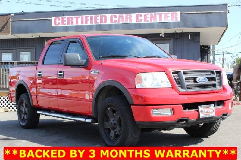 2004 Ford F-150 for sale at CERTIFIED CAR CENTER in Fairfax VA