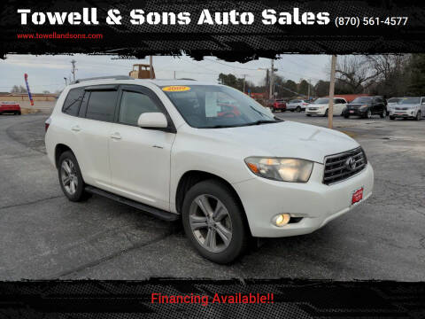 2009 Toyota Highlander for sale at Towell & Sons Auto Sales in Manila AR