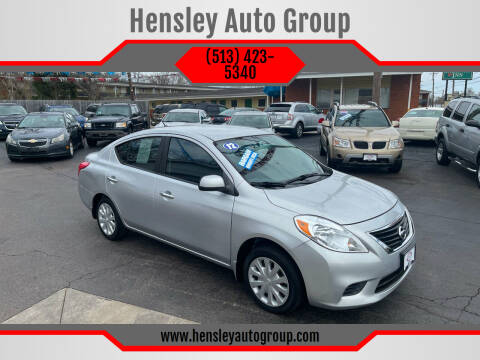 2012 Nissan Versa for sale at Hensley Auto Group in Middletown OH