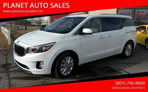 2016 Kia Sedona for sale at PLANET AUTO SALES in Lindon UT