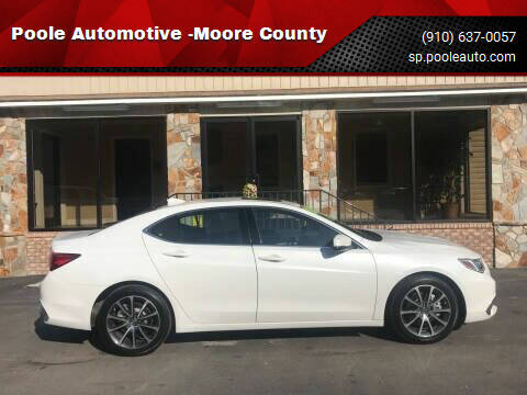 2019 Acura TLX for sale at Poole Automotive -Moore County in Aberdeen NC