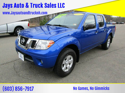 2013 Nissan Frontier for sale at Jays Auto & Truck Sales LLC in Loudon NH