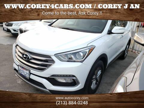 2018 Hyundai Santa Fe Sport for sale at WWW.COREY4CARS.COM / COREY J AN in Los Angeles CA