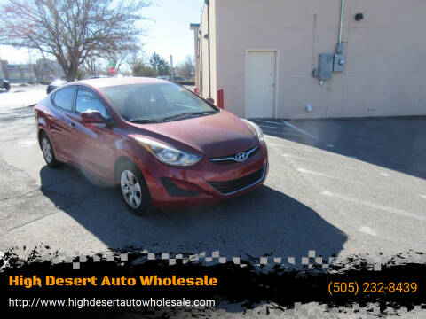 2016 Hyundai Elantra for sale at High Desert Auto Wholesale in Albuquerque NM