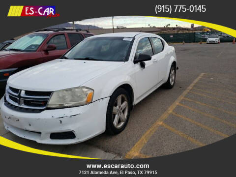 2013 Dodge Avenger for sale at Escar Auto in El Paso TX