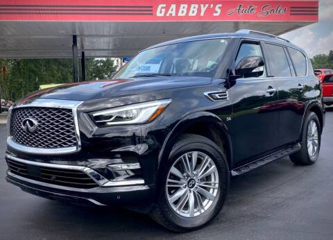 2018 Infiniti QX80 for sale at GABBY'S AUTO SALES in Valparaiso IN