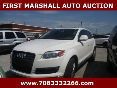 2008 Audi Q7 for sale at First Marshall Auto Auction in Harvey IL