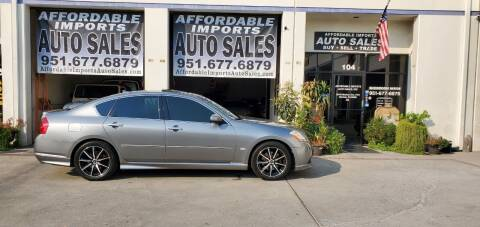 2007 Infiniti M35 for sale at Affordable Imports Auto Sales in Murrieta CA