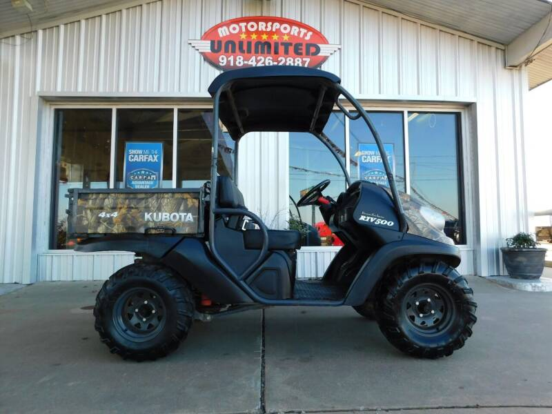2014 Kubota RTV500 for sale at Motorsports Unlimited in McAlester OK