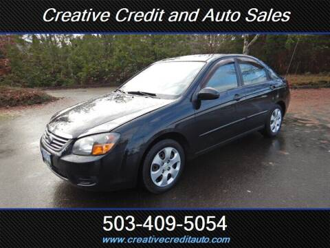 2009 Kia Spectra for sale at Creative Credit & Auto Sales in Salem OR