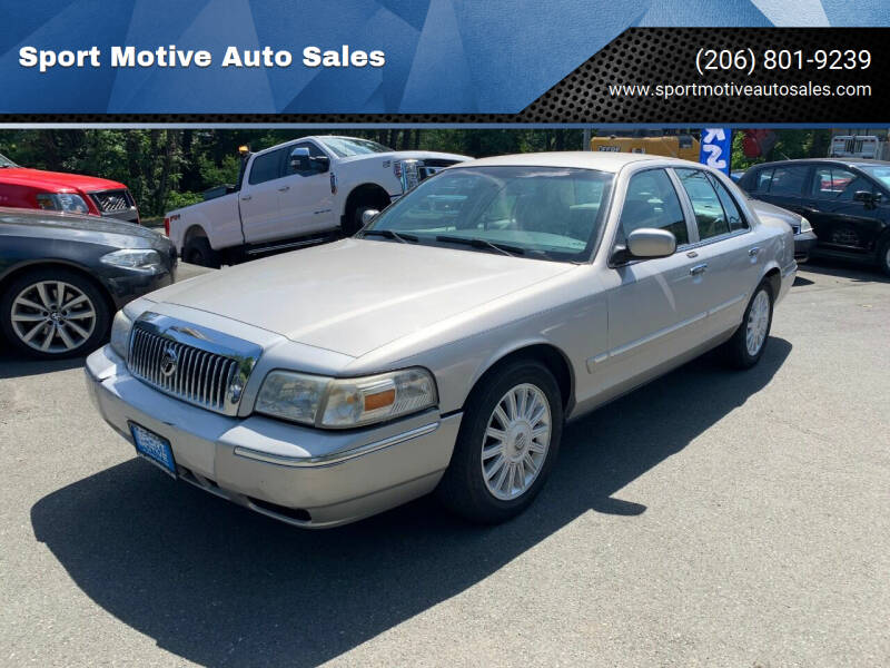 2008 Mercury Grand Marquis for sale at Sport Motive Auto Sales in Seattle WA