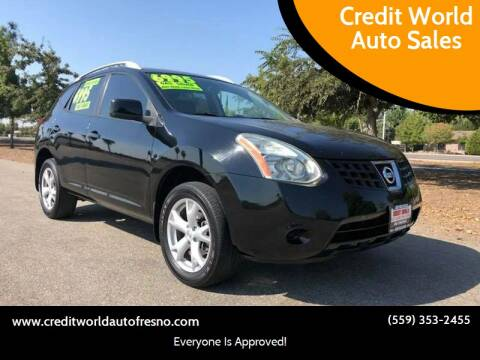 2008 Nissan Rogue for sale at Credit World Auto Sales in Fresno CA