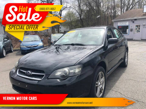 2006 Subaru Legacy for sale at VERNON MOTOR CARS in Vernon Rockville CT
