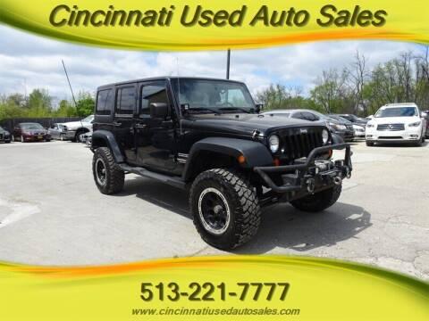 2012 Jeep Wrangler Unlimited for sale at Cincinnati Used Auto Sales in Cincinnati OH