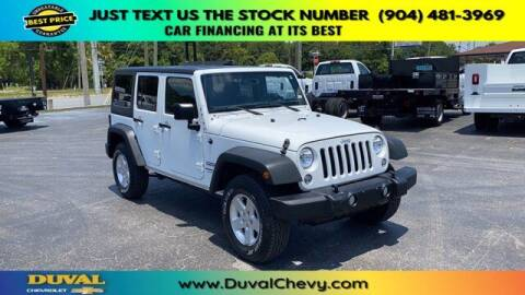 2018 Jeep Wrangler JK Unlimited for sale at Duval Chevrolet in Starke FL