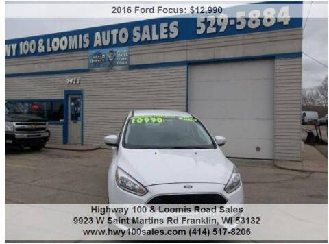 2016 Ford Focus for sale at Highway 100 & Loomis Road Sales in Franklin WI