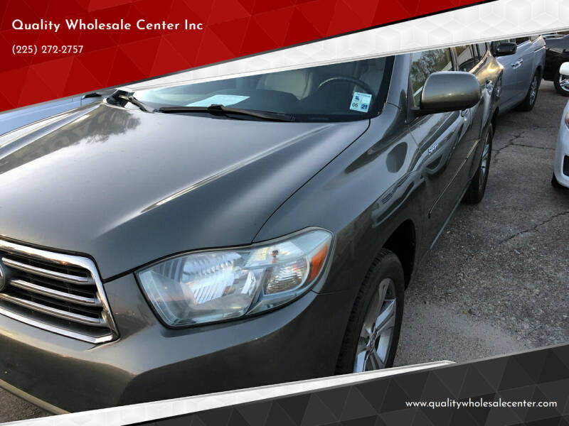 2010 Toyota Highlander for sale at Quality Wholesale Center Inc in Baton Rouge LA