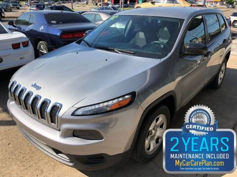 2015 Jeep Cherokee for sale at Pary's Auto Sales in Garland TX