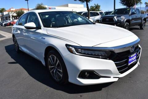 2021 Honda Accord Hybrid for sale at DIAMOND VALLEY HONDA in Hemet CA