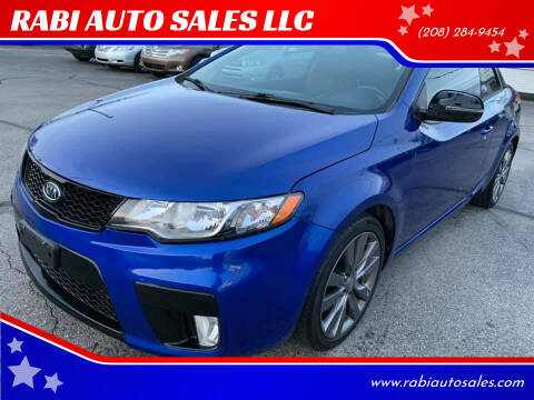 2013 Kia Forte Koup for sale at RABI AUTO SALES LLC in Garden City ID