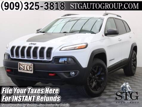 2017 Jeep Cherokee for sale at STG Auto Group in Montclair CA