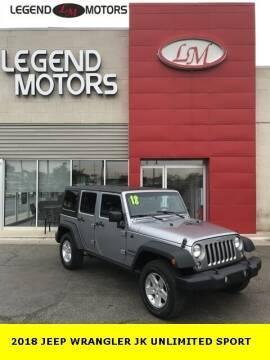 2018 Jeep Wrangler JK Unlimited for sale at Legend Motors of Ferndale in Ferndale MI