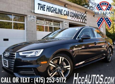 2018 Audi A4 for sale at The Highline Car Connection in Waterbury CT