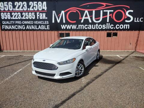 2016 Ford Fusion for sale at MC Autos LLC in Pharr TX