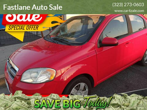 2010 Chevrolet Aveo for sale at Fastlane Auto Sale in Los Angeles CA