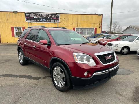 2010 GMC Acadia for sale at Virginia Auto Mall in Woodford VA