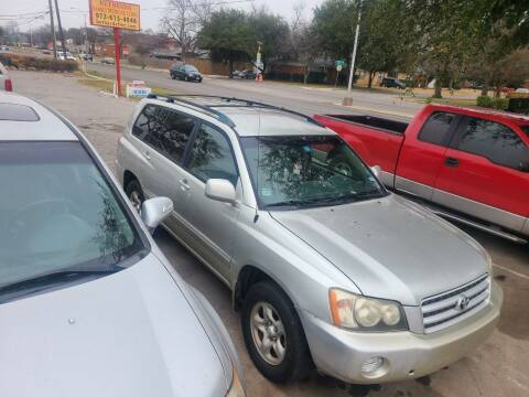 2003 Toyota Highlander for sale at Bad Credit Call Fadi in Dallas TX