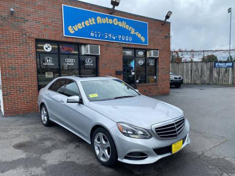 2016 Mercedes-Benz E-Class for sale at Everett Auto Gallery in Everett MA
