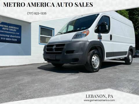 2015 RAM ProMaster Cargo for sale at METRO AMERICA AUTO SALES of Lebanon in Lebanon PA
