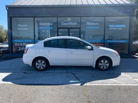 2008 Nissan Sentra for sale at Georgia Certified Motors in Stockbridge GA