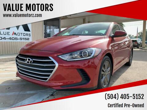 2018 Hyundai Elantra for sale at VALUE MOTORS in Kenner LA