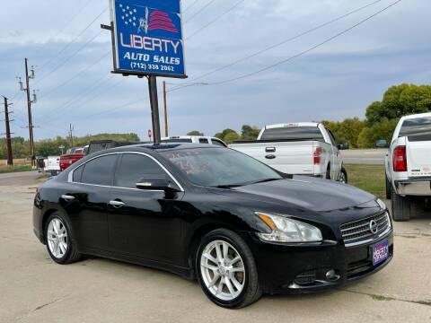 2011 Nissan Maxima for sale at Liberty Auto Sales in Merrill IA