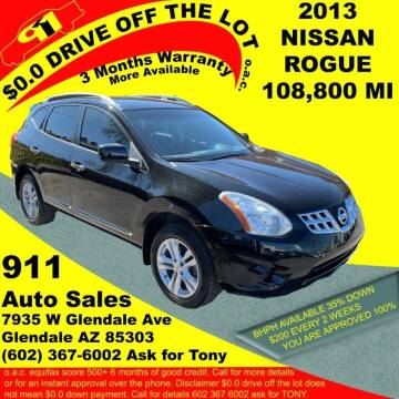 2013 Nissan Rogue for sale at 911 AUTO SALES LLC in Glendale AZ