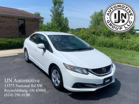 2013 Honda Civic for sale at IJN Automotive Group LLC in Reynoldsburg OH