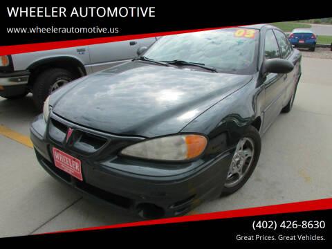 2003 Pontiac Grand Am for sale at WHEELER AUTOMOTIVE in Blair NE