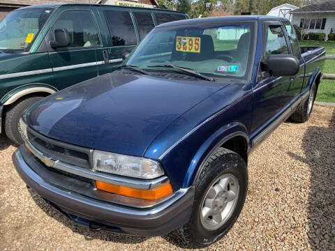 1999 Chevrolet S-10 for sale at BURNWORTH AUTO INC in Windber PA