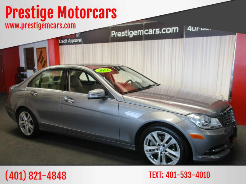 2012 Mercedes-Benz C-Class for sale at Prestige Motorcars in Warwick RI