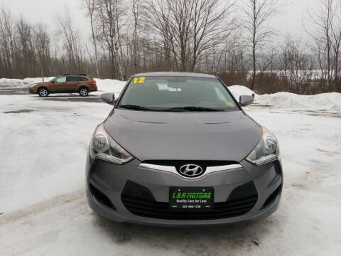 2012 Hyundai Veloster for sale at L & R Motors in Greene ME