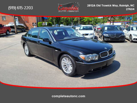2005 BMW 7 Series for sale at Complete Auto Center , Inc in Raleigh NC