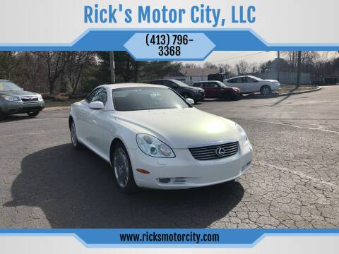 2002 Lexus SC 430 for sale at Rick's Motor City, LLC in Springfield MA