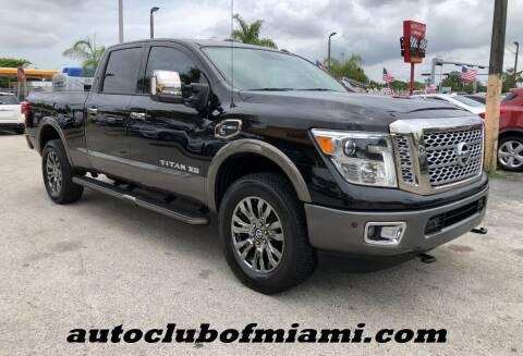 2016 Nissan Titan XD for sale at AUTO CLUB OF MIAMI in Miami FL