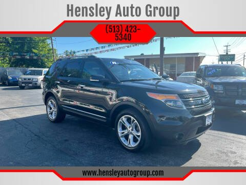 2015 Ford Explorer for sale at Hensley Auto Group in Middletown OH