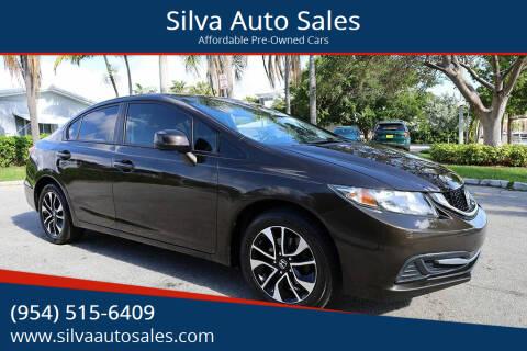 2013 Honda Civic for sale at Silva Auto Sales in Pompano Beach FL