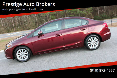 2012 Honda Civic for sale at Prestige Auto Brokers in Raleigh NC