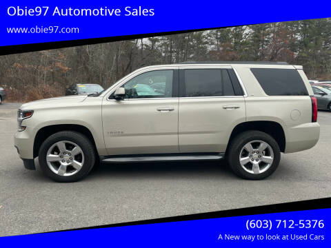 2015 Chevrolet Tahoe for sale at Obie97 Automotive Sales in Londonderry NH